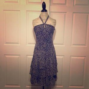 Ann Taylor silk halter dress
